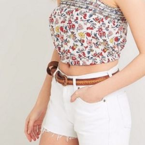 • strapless UO ecoté smocked floral tube top •